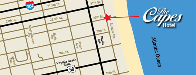 Capes Hotel - Virginia Beach, Virginia Map And Directions
