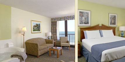 Capes hotel virginia beach oceanfront resort king suite room - 2 bedroom hotels in virginia beach ...