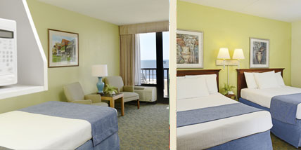Capes hotel virginia beach oceanfront resort two room unit - 2 bedroom hotels in virginia beach ...